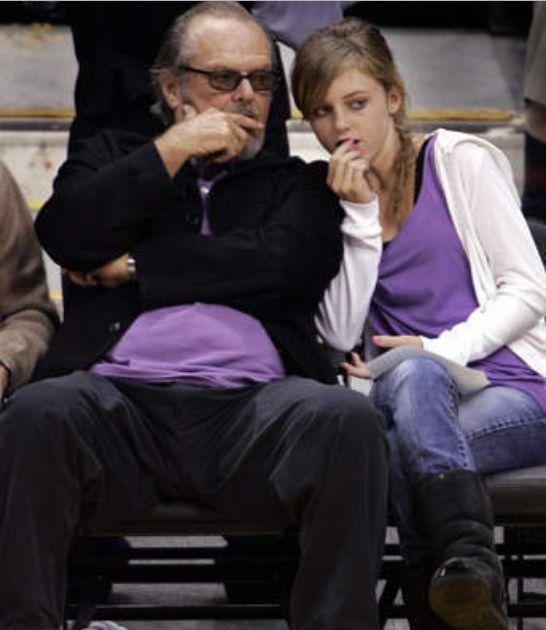 Honey Hollman with dad Jack Nicholson