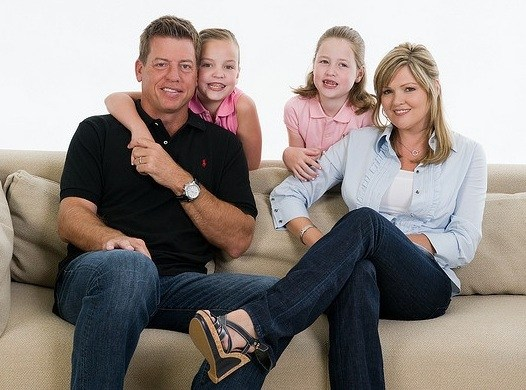 Rhonda Worthey With Troy AIkman and her kids