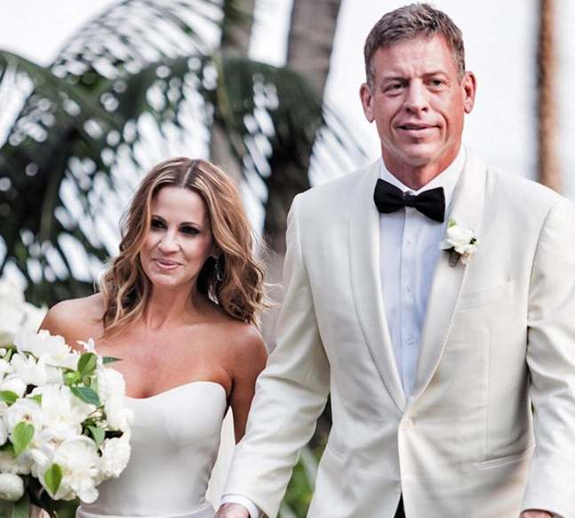 Troy Aikman with second wife